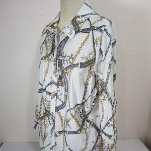 Susan Graver Starfish Coastal Shirt Plus 18W